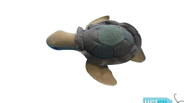 Nutrapet Tough Turtle Jute Dog Toy
