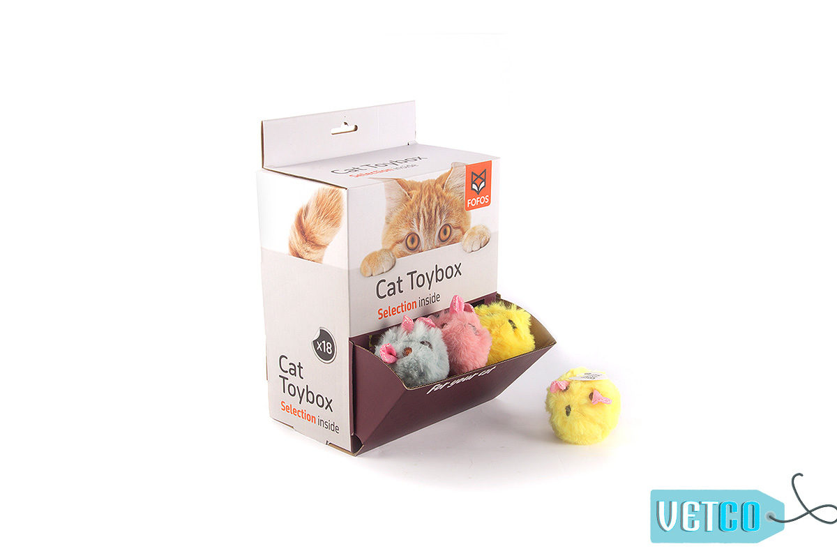 FOFOS Ball Box Rattle Cat Toy
