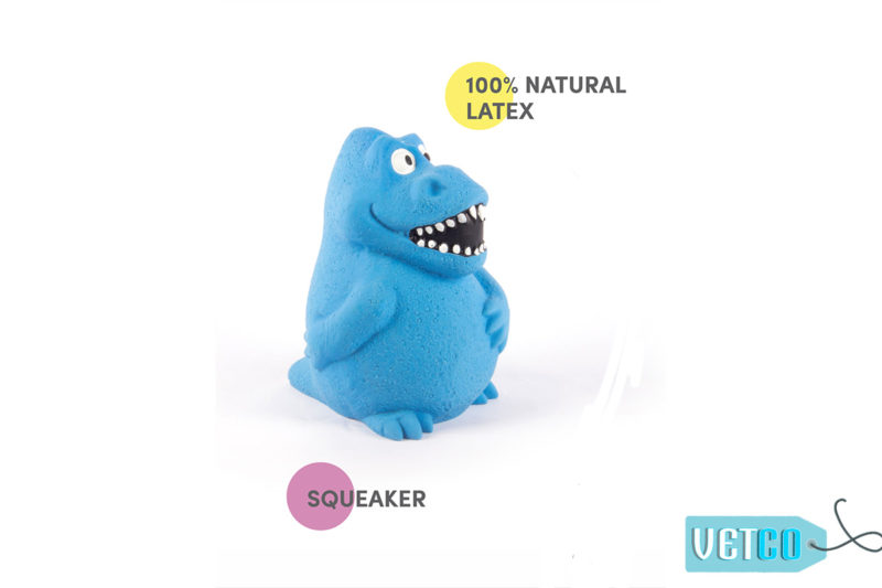 FOFOS Bi Toy Dinosaur Latex Dog Toy
