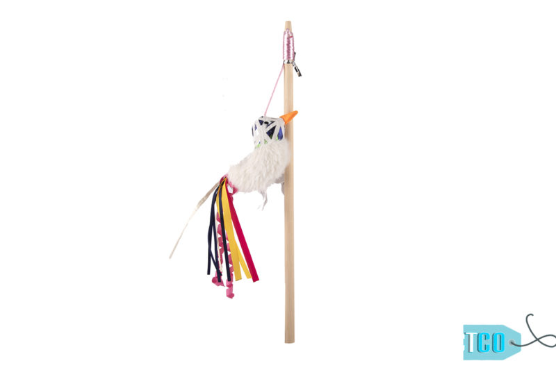 FOFOS Blocky Meow Catnip Bird Wand Cat Toy