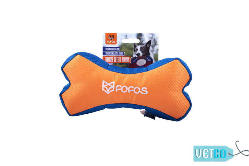 FOFOS Born Wild Bone Orange Dog Toy1