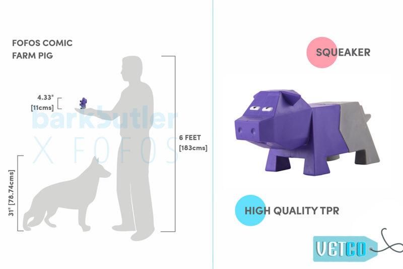 FOFOS Comic Farm Pig Dog Toy