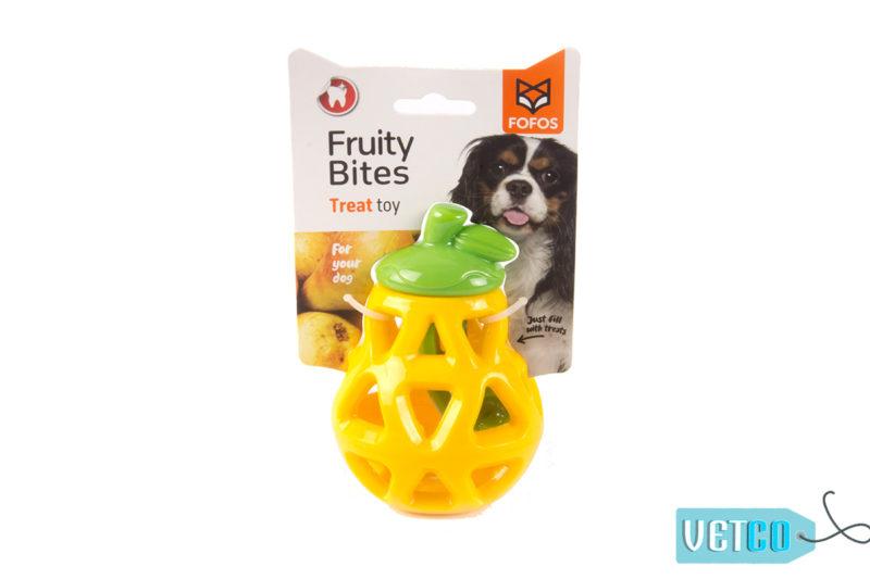 FOFOS Fruity-Bites Treat Dispensing Pear Dog Toy