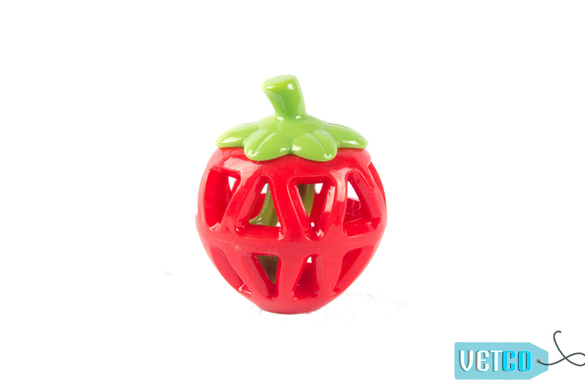 FOFOS Fruity-Bites Treat Dispensing Strawberry Dog Toy