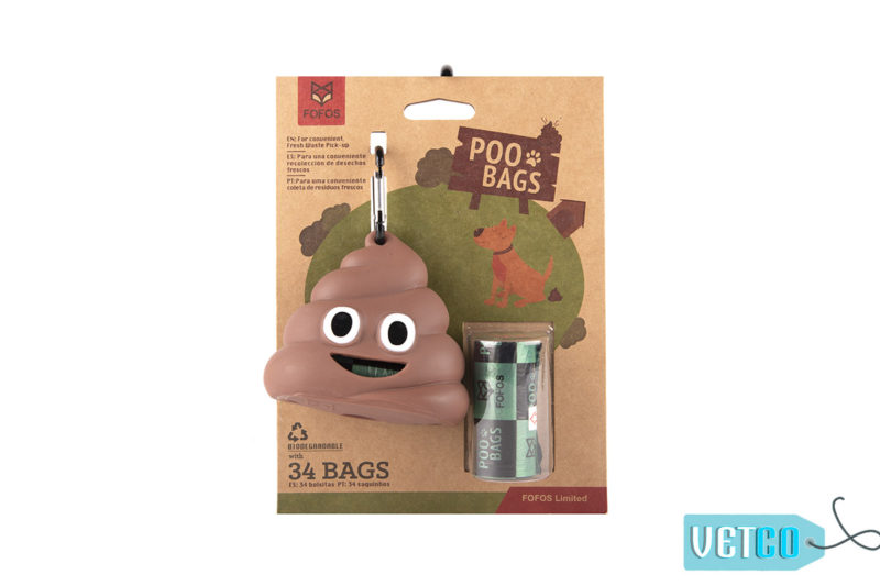 FOFOS Poop Bags with Dispenser Set, 34 count