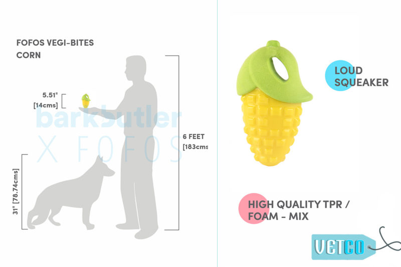 FOFOS Vegi-Bites Corn Dog Toy - Large
