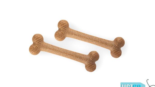 FOFOS Woodplay Bone Twins Dog Toy