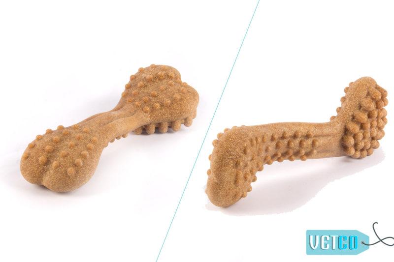 FOFOS Woodplay Brush Bone Dog Toy