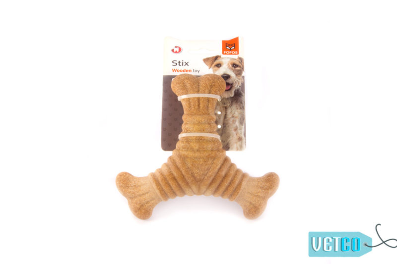 FOFOS Woodplay Triangle Dog Toy