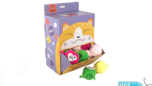 FOFOS Yarn Ball Box Cat Toy, 24 count