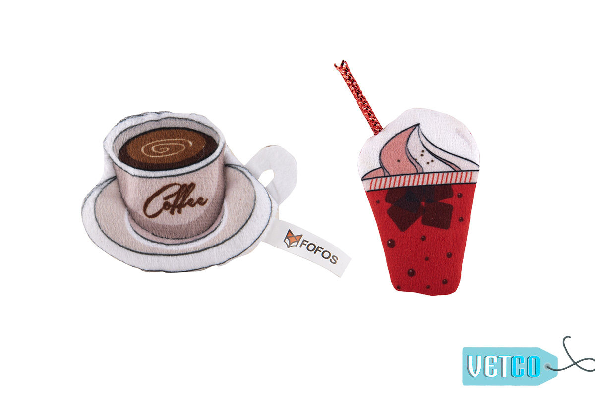 FOFOS Yummy Diet Ice Cream & Coffee Cat Toy