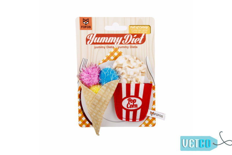 FOFOS Yummy Diet Popcorn & Cone Cat Toy