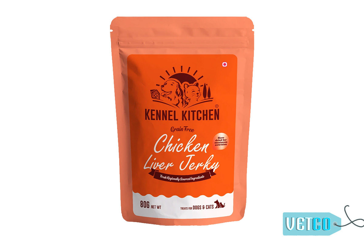 Kennel Kitchen Chicken Liver Jerky Dog & Cat Treats, 80 gms