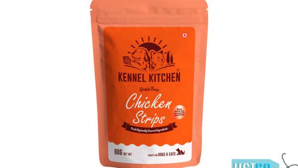 Kennel Kitchen Chicken Strip Dog & Cat Treats, 80 gms