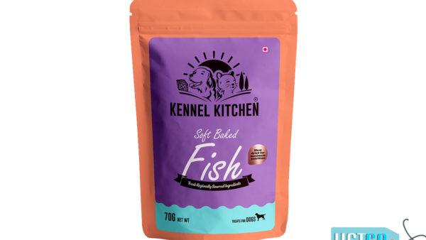 Kennel Kitchen Soft Baked Fish Stick Dog Treats, 70 gms