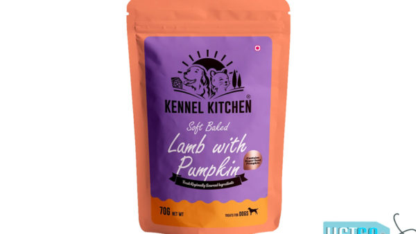 Kennel Kitchen Soft Baked Lamb with Pumpkin Stick Dog Treats, 70 gms
