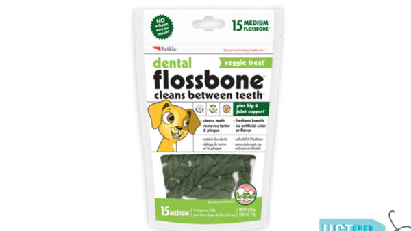 Petkin Wheat Free Dental Flossbone Treat – Medium