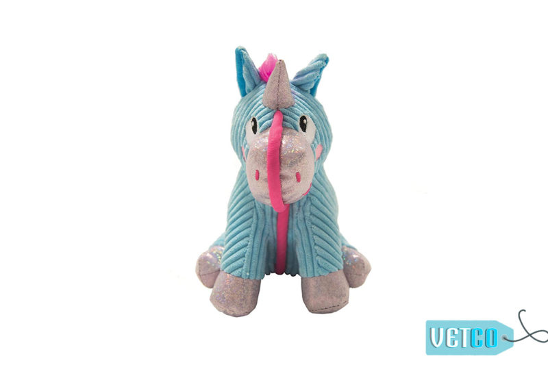 Petstages Corded Seamz Unicorn Dog Toy
