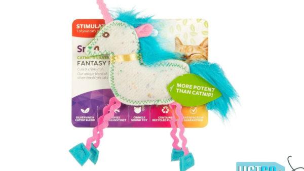 SmartyKat Fantasy Frenzy Crinkle Unicorn Catnip and Silvervine Cat Toy