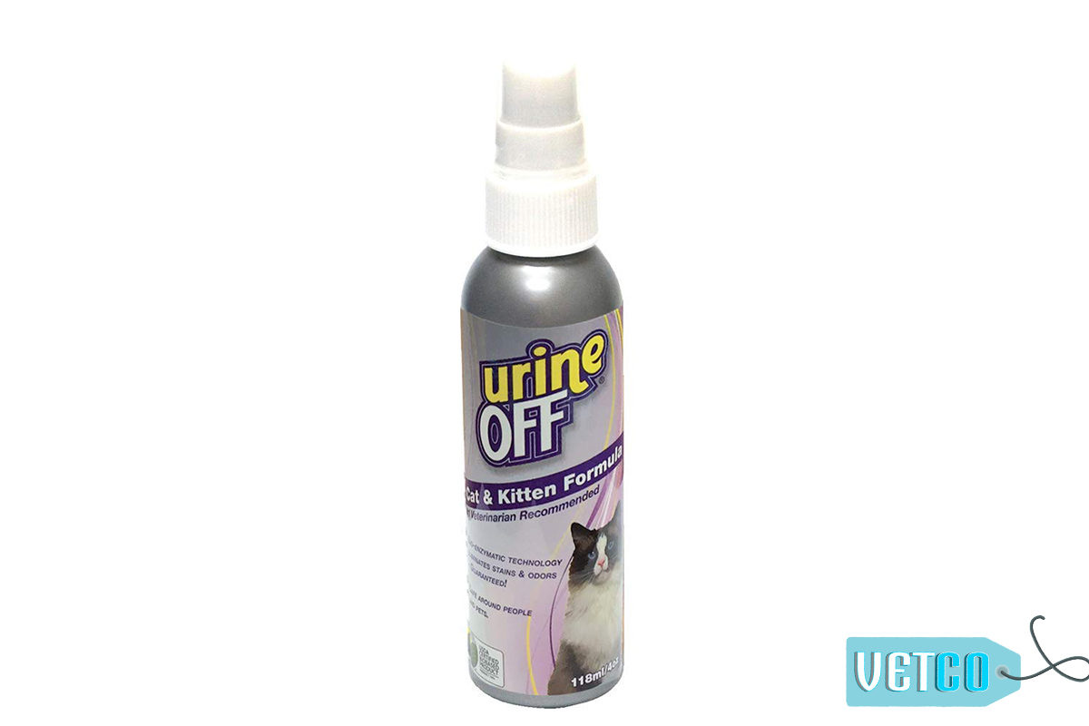 Urine Off Cat & Kitten Stain & Odor Remover Spray, 118ml