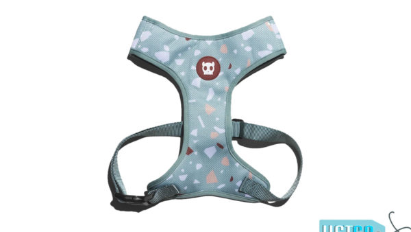 Zee.Dog Terrazzo Green Air Mesh Plus Dog Harness