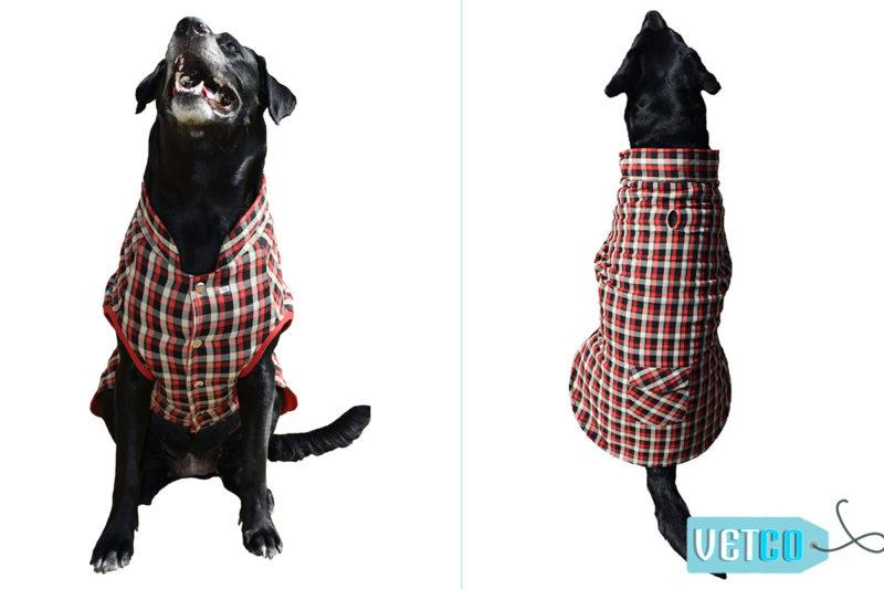 Barks n Wags Black & Red Plaid Jacket