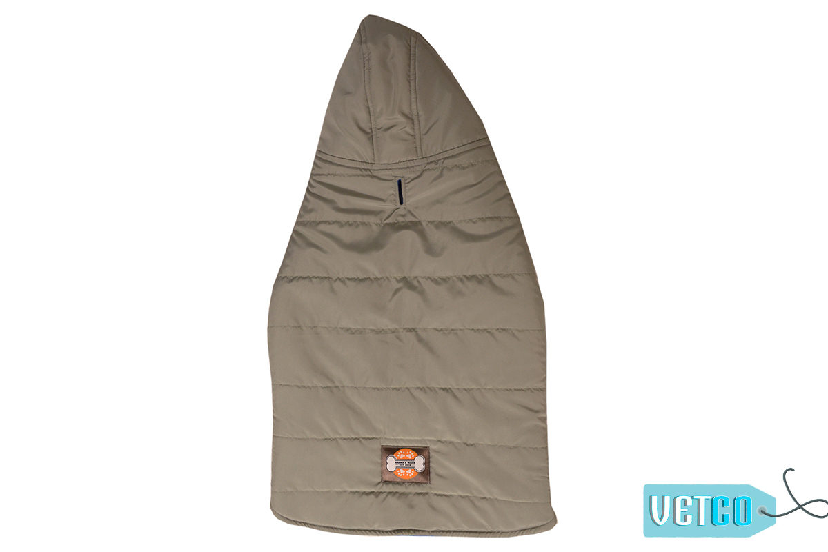 Barks n Wags Grey Hooded Microfiber Jacket