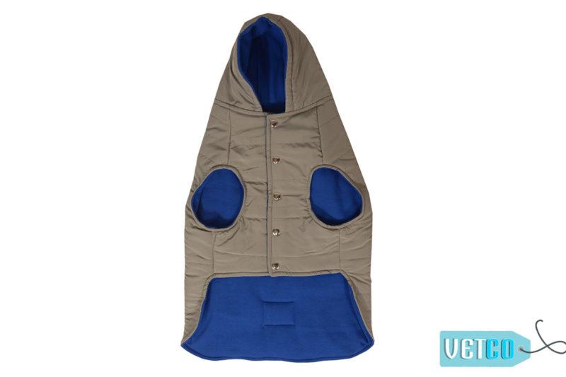 Barks n Wags Grey Hooded Microfiber Jacket