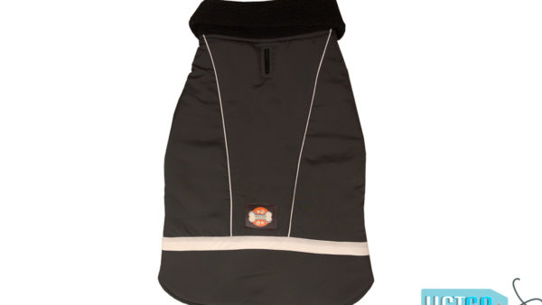 Barks n Wags Grey Microfiber Insulated Coat