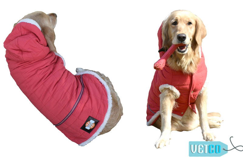 Barks n Wags Red Fur Hood Jacket