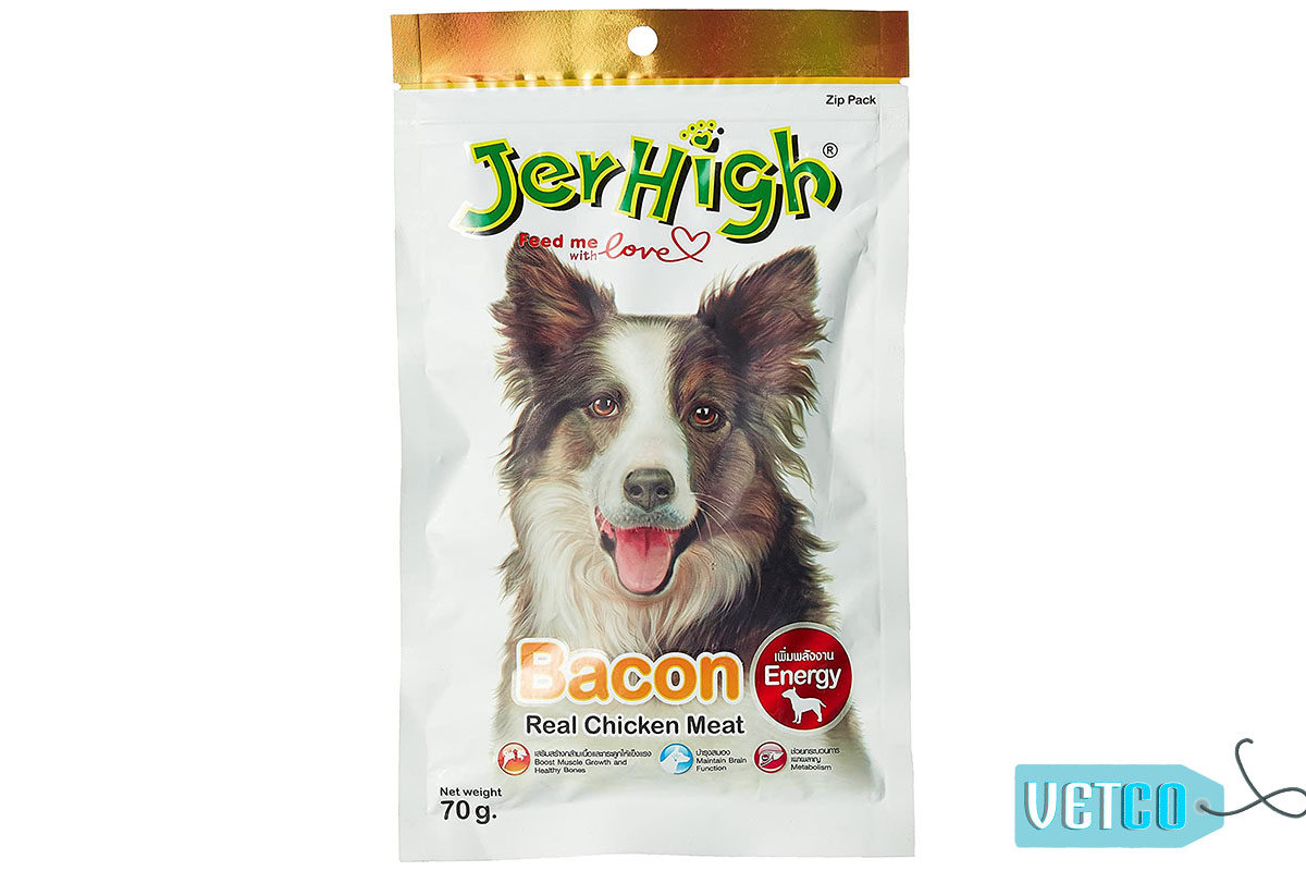 JerHigh Bacon Dog Treats with Real Chicken, 70 gms