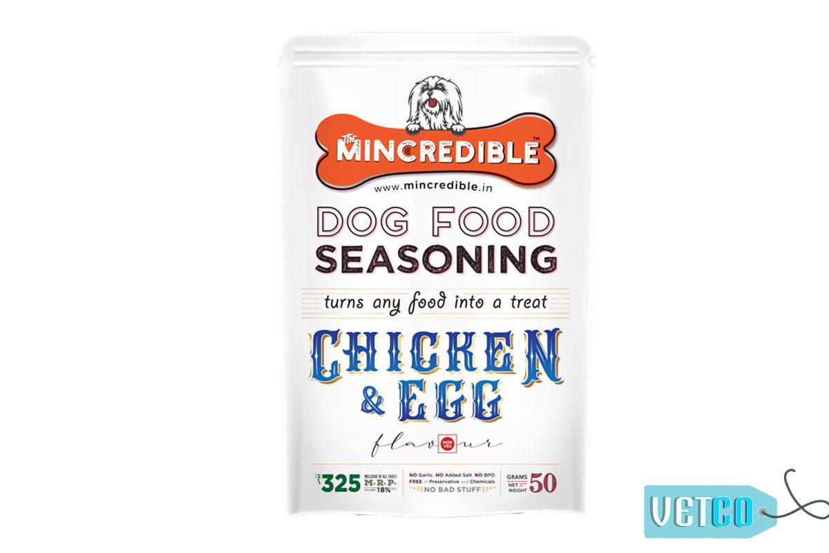 Mincredible Dog Food Seasoning & Topper – Chicken & Egg