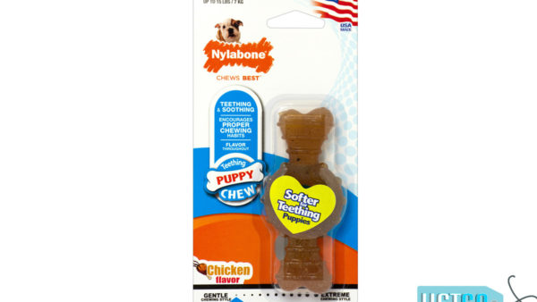 Nylabone Puppy Ring Chicken Bone Teething Toy for Puppies