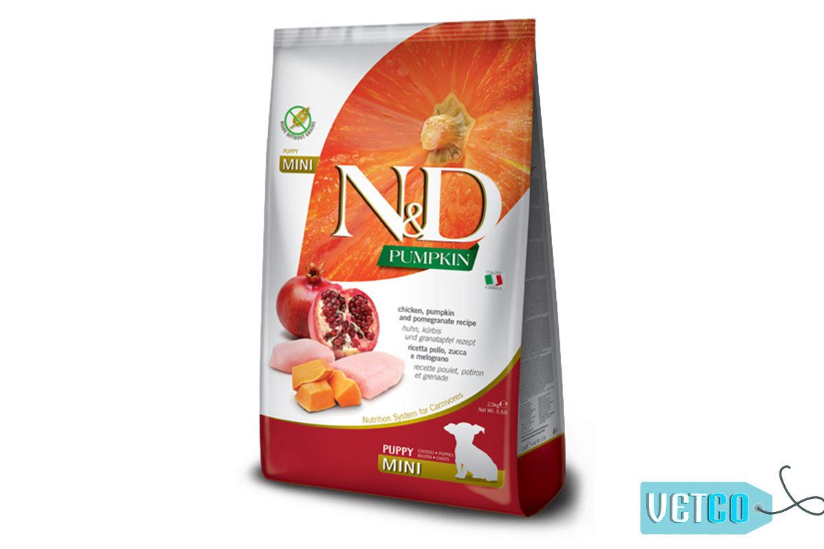 Farmina N&D Grain Free Chicken, Pumpkin & Pomegranate Puppy Dog Food (Mini & Small Breeds)