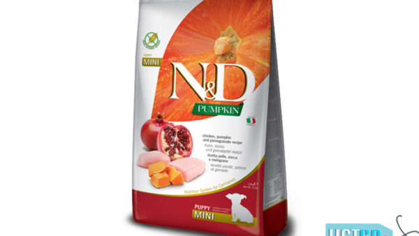Farmina N&D Grain Free Chicken, Pumpkin & Pomegranate Puppy Dog Food (Mini & Small Breeds)