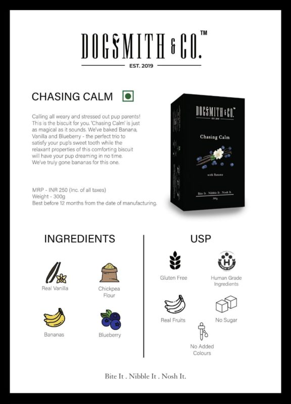 Dogsmith & Co. Chasing Calm Dog Biscuits, 300 gms