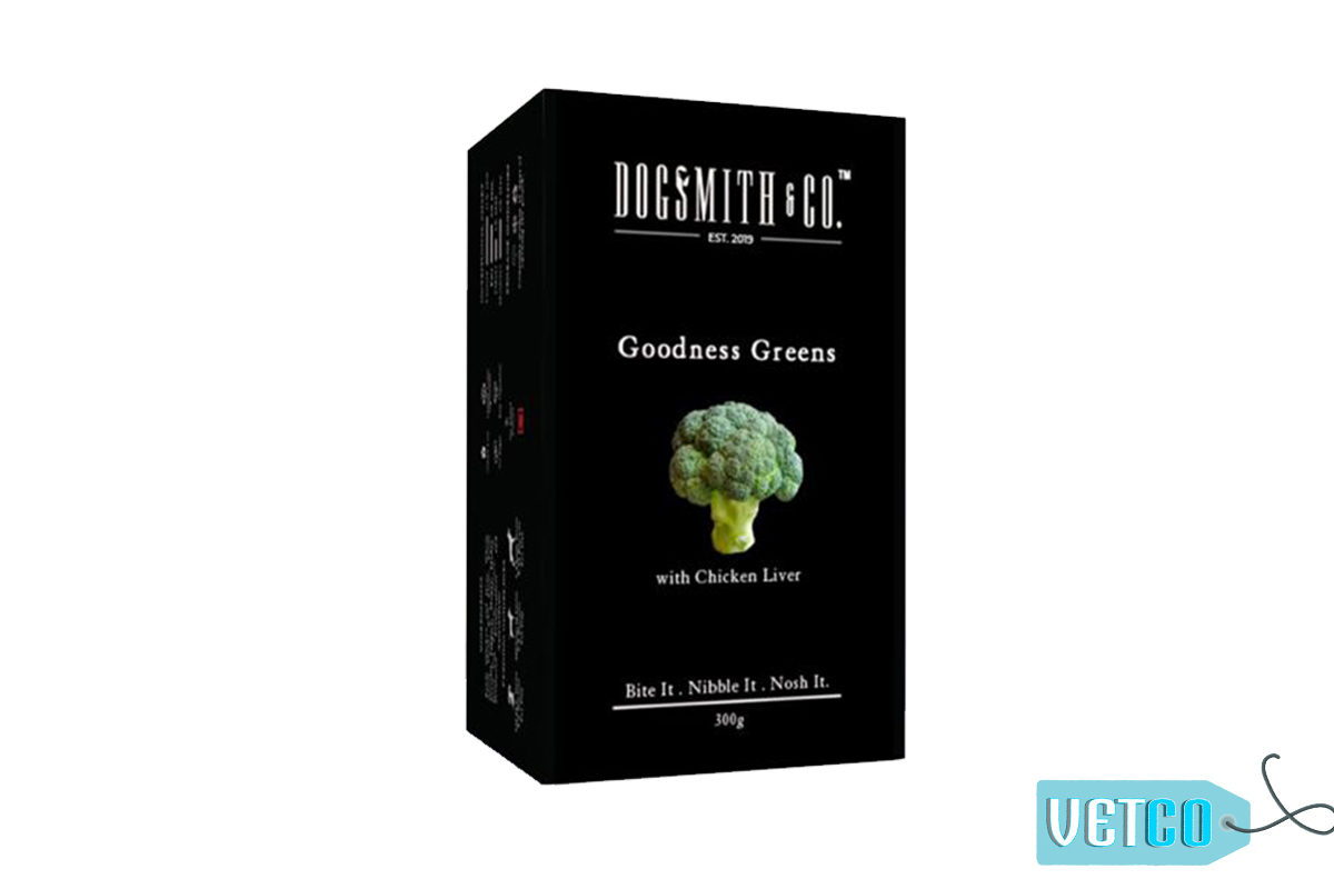 Dogsmith & Co. Goodness Greens Dog Biscuits, 300 gms