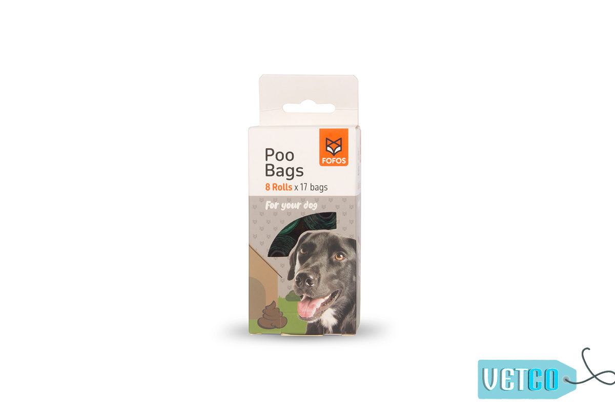 FOFOS Biodegradable Poop Bags, 136 count