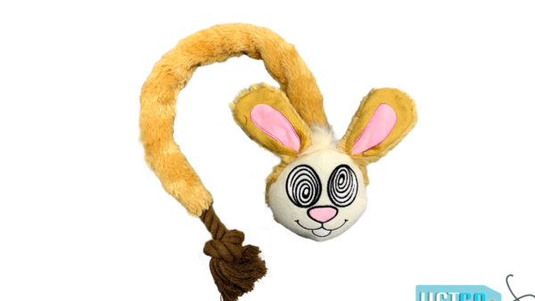 FOFOS Forest Eye Rabbit Rope Dog Toy