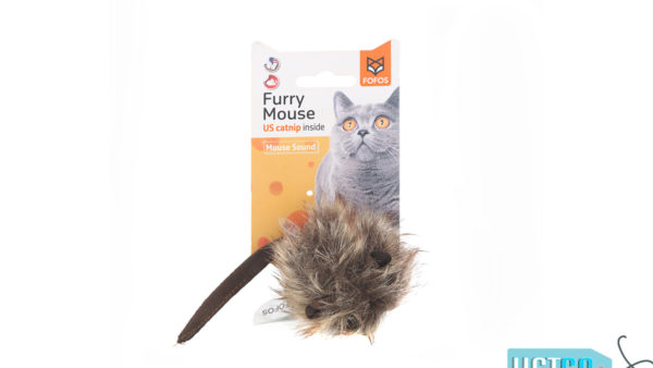 FOFOS Interactive Furry Mouse Catnip Cat Toy