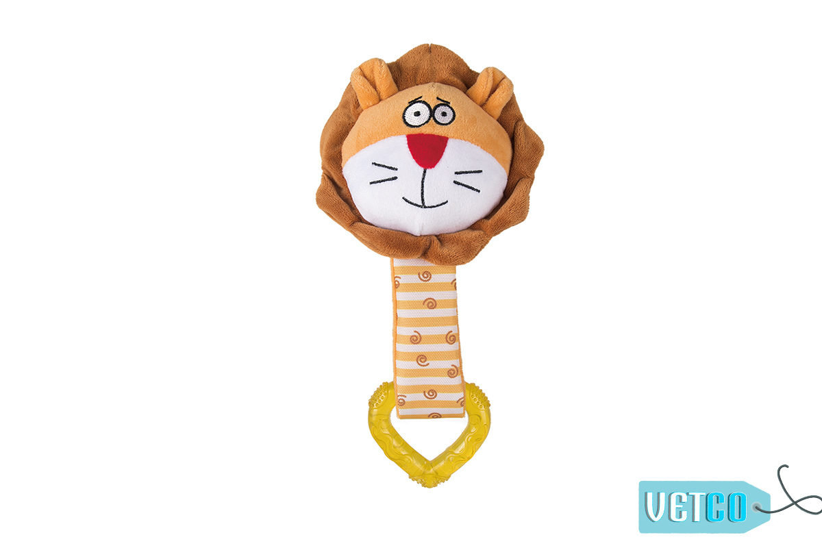 FOFOS Lion Heart Puppy Ring Dog Toy
