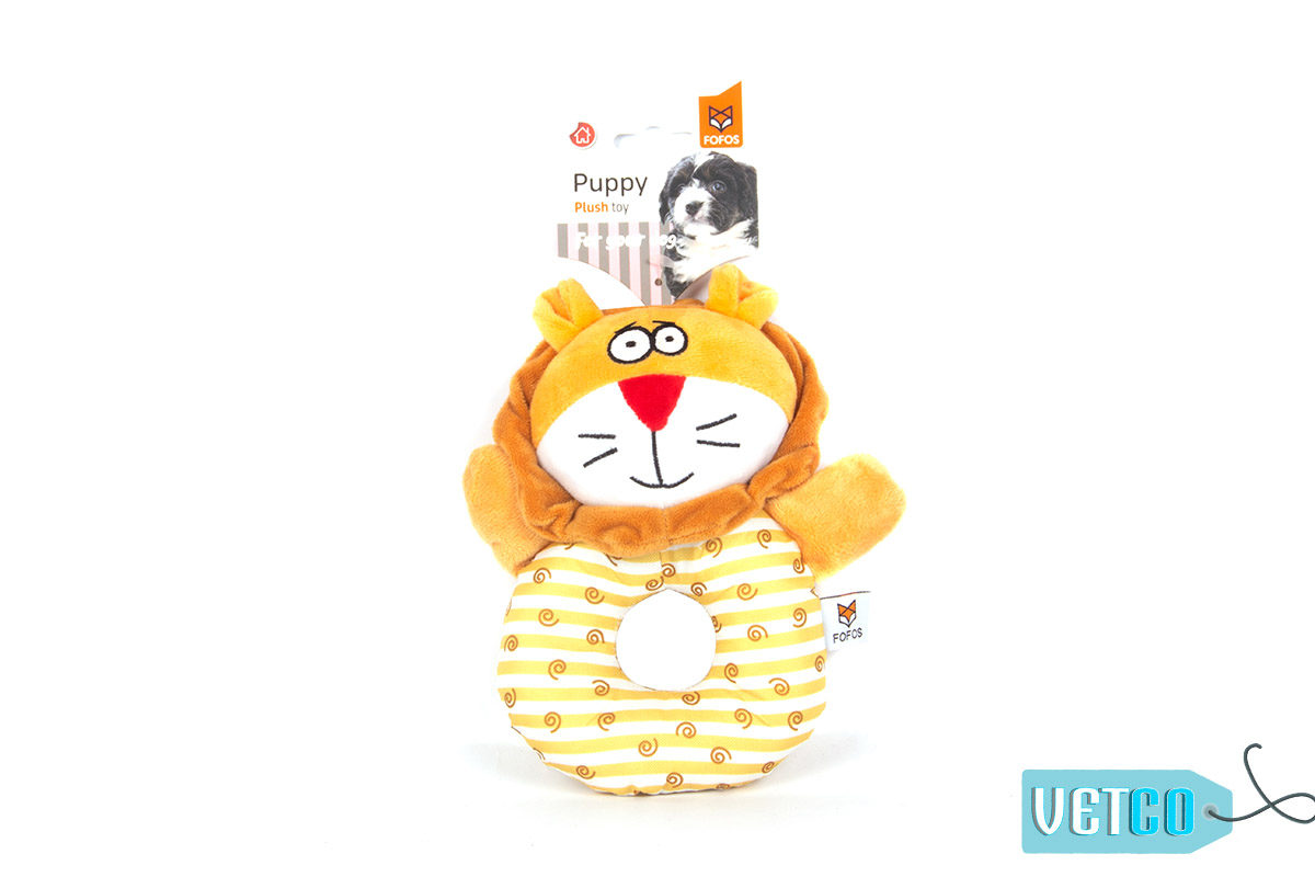 FOFOS Lion Puppy Ring Dog Toy 2