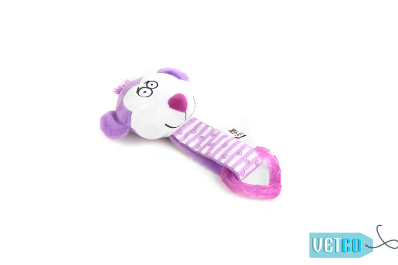 FOFOS Monkey Heart Puppy Ring Dog Toy