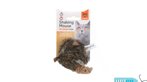 FOFOS Pull String Mouse Catnip Cat Toy – Brown
