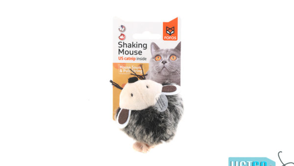 FOFOS Pull String Mouse Catnip Cat Toy – Grey