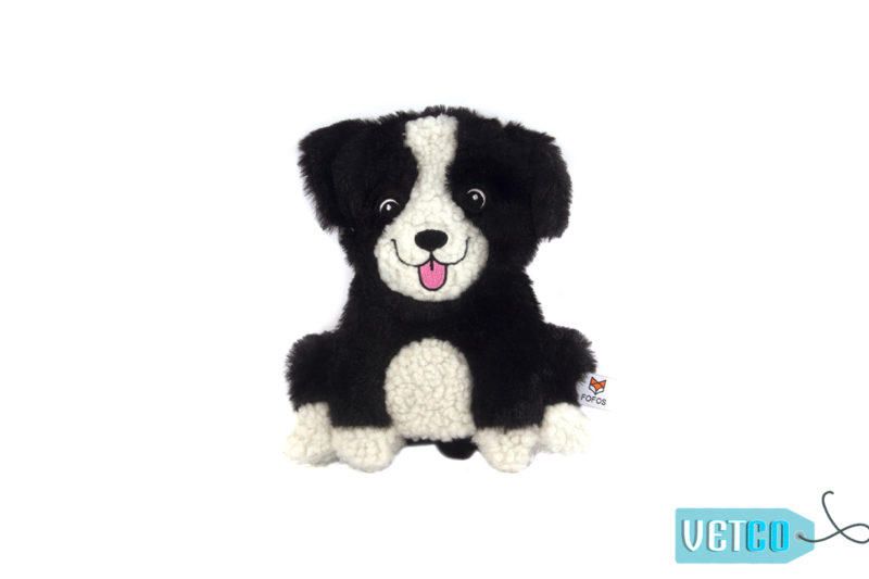FOFOS Puppy Home Fluffy Collie Stuffing Free Dog Toy