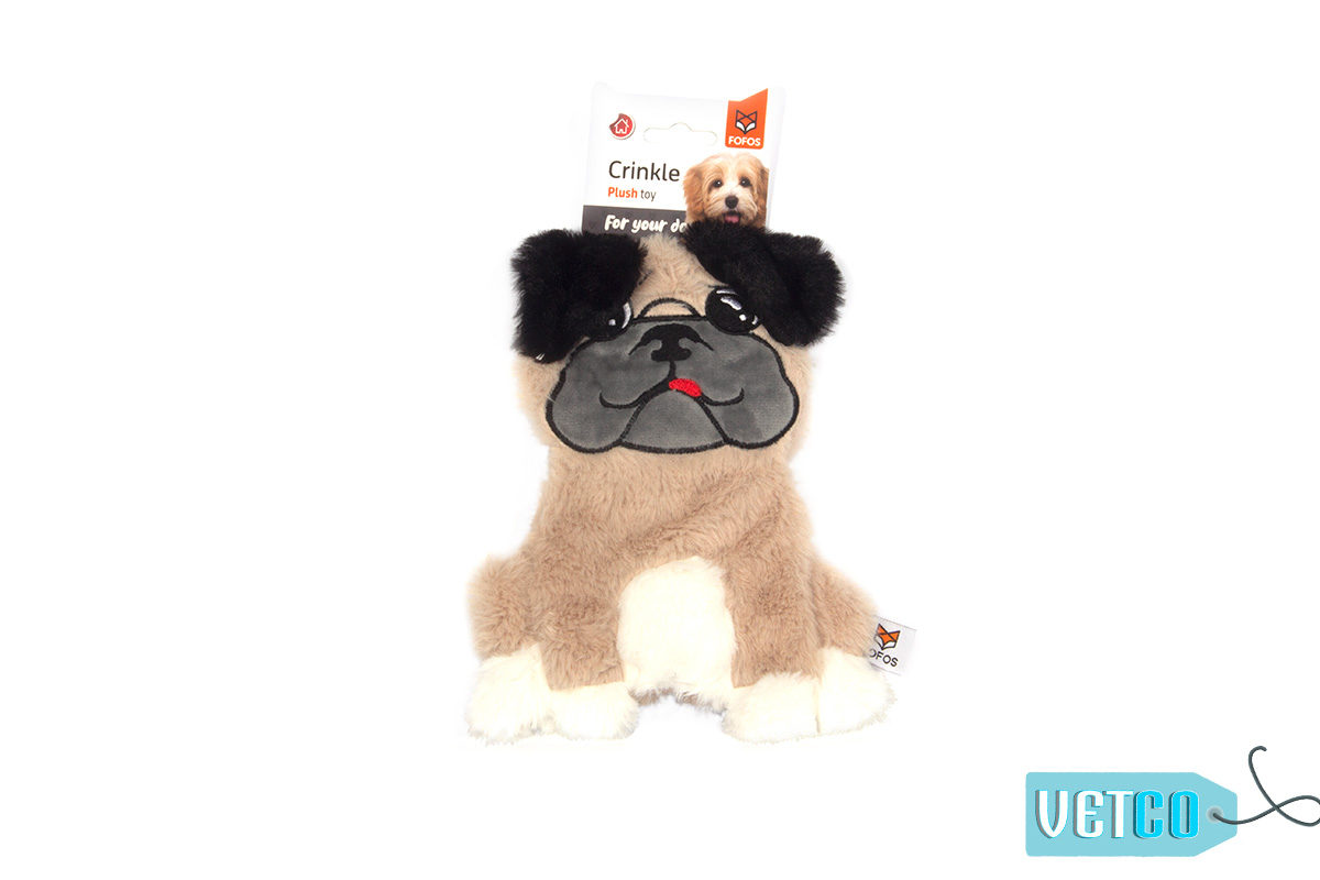 FOFOS Puppy Home Fluffy Pug Stuffing Free Dog Toy