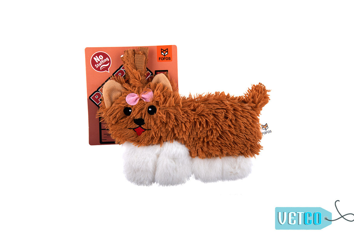 FOFOS Puppy Home Yorky Stuffing Free Dog Toy