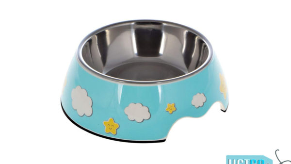 Nutrapet Melamine Cloudy Blue Round Bowl