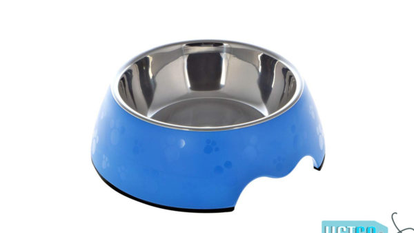 Nutrapet Melamine Round Paw Bowl – Blue